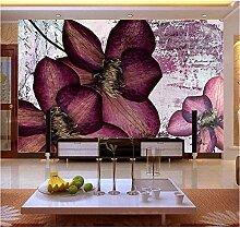 Lila Blume 3d Fototapete Vinyl Tapete für TV Sofa