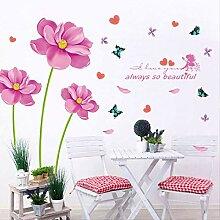 Lila Blumenwandaufkleber Kindertapete Wasserdichte