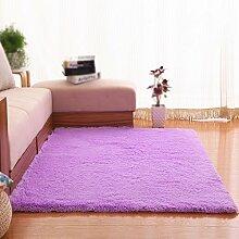Lila dicke rutschfeste teppich / wohnzimmer sofa couchtisch schlafzimmer teppich bettdecke / heimtextilien einfarbig teppich ( größe : 80*160cm )