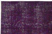 Lila Eingefäbter Türkischer Teppich