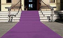 Lila Eventteppich VIP Carpet Läufer Teppich Empfangsteppich in Breite 1 m und Länge 12 m