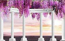 Lila Fototapete 3D 250Cmx175Cm Blume Römische