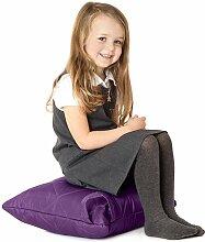 Lila, gesteppte, wasserabweisende Kissen Sitzsack
