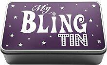 Lila My Bling Dose Geschenkidee Mum Kids Metall Aufbewahrungsdose Box A033