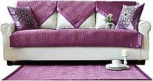 Lila Plüsch Sofa Handtuch Covers Werfen Für