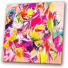 Lila, Rot, Rosa, Gelb, modern abstraktes Quadrat