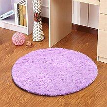 Lila Runde Einfache Teppich Wohnzimmer Schlafzimmer Studie Hängende Stühle Computer Drehstuhl Matratze Mat ( größe : 140CM )