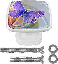Lila Schöner Schmetterling, 4 Stück