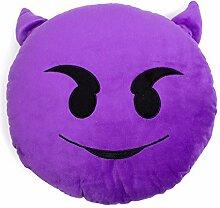 Lila Teufel Emoji-Kissen