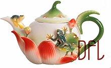 Lila Ton Teekanne 420Ml Emaille Teekanne Knochen