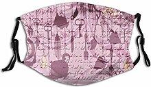Lila Vintage Teekanne Feder Hintergrund