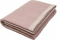Lila violett Sofa Überwurf, Fischgrätmuster, Semi-Strukturierte Wolle, 130cm x 200cm. Aus der McAlister Herringbone Design Range