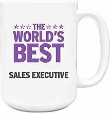 Lila Worlds Best Sales Executive Big 444ml Becher 336