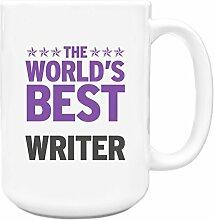 Lila Worlds Best Writer Big 444ml Becher 428