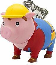 LILALU Spardose BIGGYS Handwerker, Sparschwein