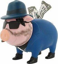 LILALU Spardose BIGGYS Mafioso, Sparschwein Kopf