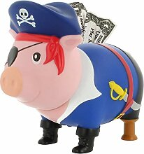 LILALU Spardose BIGGYS Pirat, Sparschwein Kopf