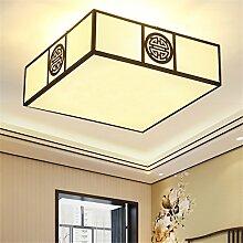 Lilamins Deckenleuchte Square Bgeleisen Stoffen Antiken Wohnzimmer Schlafzimmer Leuchte Lampe Halle Zimmer 450