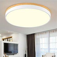 Lilamins Holz Licht Lampen Wohnzimmer Lampe Schlafzimmer Runde Deckenleuchte 62060 Mm Led