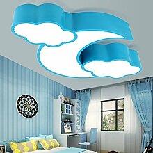 Lilamins Kinder- Wolken LED Deckenleuchte Farbe kreative Jungen Mädchen Schlafzimmer Persönlichkeit Kindergarten Spielplatz Hängeleuchten, 56 cm