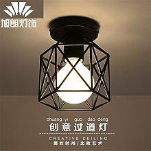 Lilamins Ländliche Decke Light Corridor Gang anhaftende Eisen Jugendstil Lampe 150*H 170 mm Beleuchtung für Badezimmer, Küche, Flur, Büro, Flur