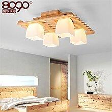 Lilamins Protokolle LED Deckenleuchte Leuchtet Rechteckige Hlzerne Wohnzimmer Study Zimmer Restaurant Licht 610 570