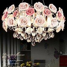 Lilamins Rosa Rosen kristall Kronleuchter Lampe