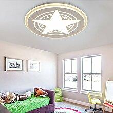 Lilamins Rundes Bett für Kinder Deckenlampe kreative Star Jungen und Mädchen Cartoon LightingLighting für Wohnzimmer?Büro, Badezimmer, Küche, Flur, Spülen Led Deckenleuchten, 400 mm