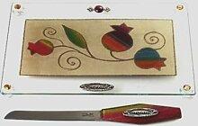 Lili Art Design Tablett mit Messer für Shabbat