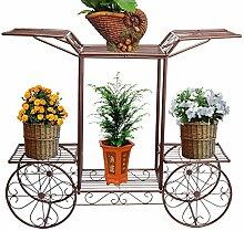 lili Metall Pflanzenständer Blumenwagen Rack