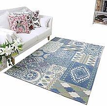 lili Teppich Teppich Blau Rechteckiger