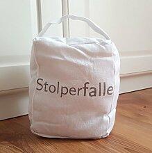 Lilienburg TÜRSTOPPER schwer Stoff Sack BO STOL - (Weiss)