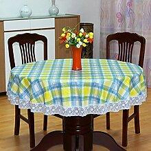 LILILI Dicke, runde Tischdecke, Kunststoff runde