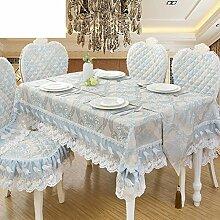 LILILI Europäische Tischdecke, runder Tisch Tuch