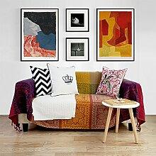 lililili Baumwolle Knitting Sofa Decke Vintage Mit