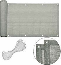 Lilin Balkon Sichtschutz Grau Balkonumspannung aus