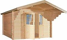 lillevilla lv234–0Gartenhaus Holz natur 350x 449x 250cm