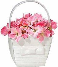 Lillian Rose plissierter Seide Blume Korb,