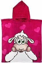 Lilly The Sheep Mädchen Poncho-Handtuch mit