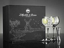 Lillywhite & Brown Gin-Glas Geschenkset mit langem