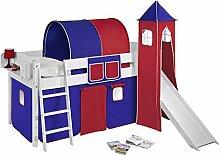 Lilokids Spielbett IDA 4105 Blau Rot-Teilbares