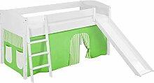 Lilokids Spielbett IDA 4106 Grün Beige-Teilbares
