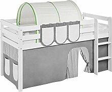 Lilokids Tunnel Grün Beige - für Hochbett, Spielbett und Etagenbe