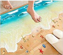LILSN- 3d Wandaufkleber Bad Bodenbelag Aufkleber Kinderzimmer Wohnzimmer Schlafzimmer wasserdicht kreative Dekorationen Wallpaper