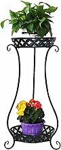 LILSN- European - Style Iron Flower Stand Mehrstöckiger Boden - Stil Balkon Indoor Wohnzimmer Blume Regal Grün Radix Orchidee Töpfe ( Farbe : Schwarz )