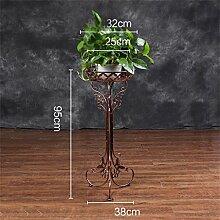 LILSN- Grüner Rettich Blumen Regal Eisen Multi - Floor Floor - Stil Blumenständer Wohnzimmer Balkon Indoor Modern Chlorophytum Single - Layer Flower Racks ( Farbe : # 3 , größe : 38*38*95cm )