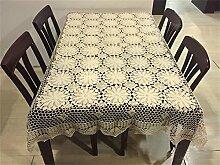 LILSN- Handgemachte Häkelarbeit stricken durchbrochenen häkeln Baumwollstoff Sofa Tuch Tischdecken bedecken universelle Abdeckung Tuch Handtuch ( größe : 120*200cm )