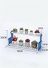 LILSN- Massivholz Blume Rack Wohnzimmer Balkon Boden Multi - Storey Blumentöpfe Indoor Einfache Fleisch Pflanze Regale ( größe : 70*21*22cm )