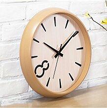 LILSN Uhren Stille Wanduhren Wohnzimmer Schlafzimmer Stilvolle moderne minimalistischen kreativen kreisförmigen Tisch