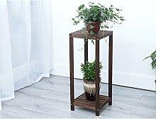 LILSN- Unabhängige hohe Blütenständer Massivholz mehrstöckiges Wohnzimmer Balkon einfache Boden Töpfe Regal grüne Rettich Regale ( größe : 28*28*70cm )